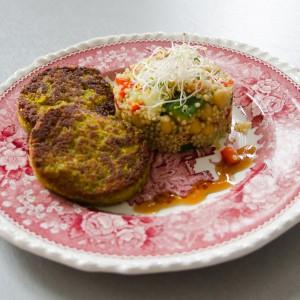 Linsen-Brokkoli-Puffer mit Quinoa
