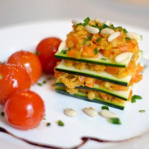 Zucchini-Linsen-Lasagne