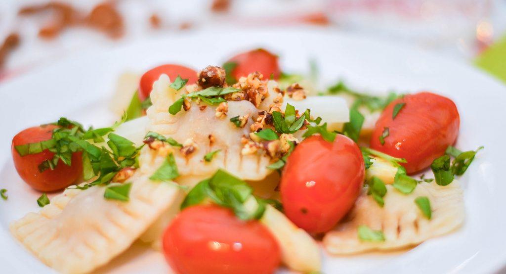 Crunchy Ravioli mit Spargel