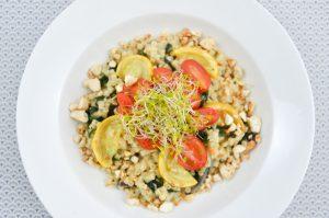 Pasta mit Spinat und Kokosmilch